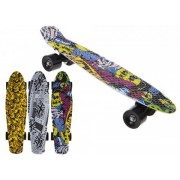 Skateboard copii longboard model Retro Multicolor 57cm lungime 50kg