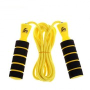 Premium Quality Standard Jumping Skipping Rope with Comfortable Bearing Foam Grip(Random Color)