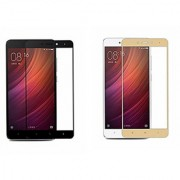 Coloured Tempered Glass for Redmi Note 4 Black Gold Pack Of Two Screen Protector