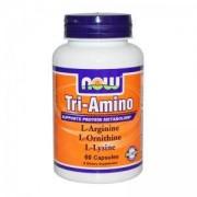 Три-Амино - Tri-Amino Arginine, Ornitine, Lysine - 60 капсули - NOW FOODS, NF0150