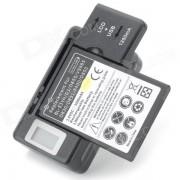 3.8V 2500mAh bateria de ion de litio + US Plugss Cargador de bateria + UE adaptador de enchufe para LG - Negro
