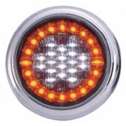 Lampa stop auto rotunda LED cu functii de Marsariei-Semnalizare 12/24V
