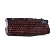Teclado Gamer Marvo K636L LED Rojo, Alámbrico, USB, Negro (Inglés)