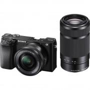 Resigilat: Sony Alpha A6100 Aparat Foto Mirrorless 24.2MP Kit 16-50 mm f / 3.5-5.6 + 55-210mm f / 4.5-6.3 Negru - RS125047744-1