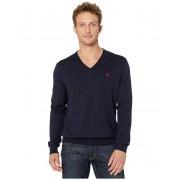Polo Ralph Lauren Cotton V-Neck Sweater Hunter Navy