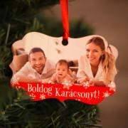 Fényképes fa karácsonyfadísz