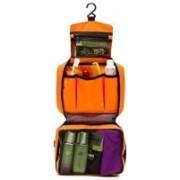 Epyz Womens Ladies toiletry storage bag hanging folding cosmetic organizer large capability pouch Travel Toiletry Kit(Orange)