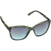 Gio Collection Over-sized Sunglasses(Green)
