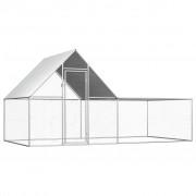 vidaXL Kokošinjac od pocinčanog čelika 4 x 2 x 2 m