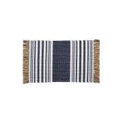 【49%OFF】ストライプ サイドフリンジ ラグ BLUE ブルー インテリア・家具 > 敷物~~ラグ