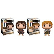 Funko POP! Movies Lord of the Rings: Frodo Baggins and Samwise Gamgee Toy Action Figure - 2 POP BUNDLE