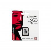 Memoria Micro Sd 16Gb Sdhc Kingston Clase 4 Para Celulares Camaras-Negro
