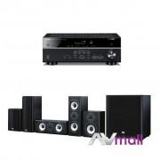 Pachet Receiver AV Yamaha RX-V483 + Boxe Onkyo SKS-HT978