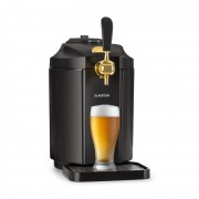 Klarstein Skal, sörcsap, sörhűtő, 5 literes hordó, CO2, fekete (TK49-Skal-BL)