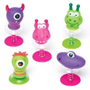 Baker Ross Monster Jump-Ups - 6 delayed action jump-up toys for kids to play with. Size 5cm.