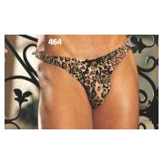 Gyz Soft & Supple Poly/Spandex Thong Leopard 464
