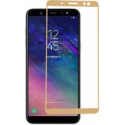 Folie de protectie Samsung Galaxy A6 Plus 2018 / Samsung Galaxy A6+ 2018 Folie sticla securizata 3D Gold Auriu FULL SCREEN Tempered Glass