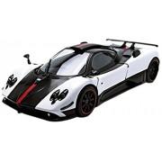 Motormax 1:18 Pagani Zonda 5 Cinque Vehicle, White/Black
