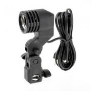 Single Holder Lamp Bulb E27 AC Socket Slave Flash Swivel Bracket Light Mount - Lampa foto un soclu
