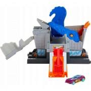 Set de joaca Hot Wheels T-Rex atac in supermarket, GBF92 Mattel