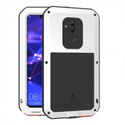 LOVE MEI Dust-proof Shock-proof Splash-proof Powerful Metal + Silicone Defender Case for Huawei Mate 20 Lite / Maimang 7 - White