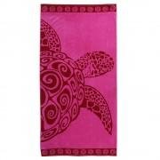 Gyerek strand fürdőlepedő, teknős rózsaszín 90x180