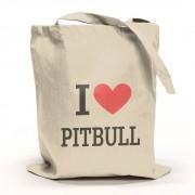 I Love Pitbull Tygpåse