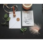 Invitatie nunta cu sigiliu OPIS053