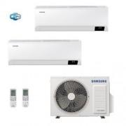 Samsung Condizionatore Dual Split 7+12 Cebu Wi-Fi 7000+12000 Btu + AJ040TXJ2KG/EU R-32 A+++ A++ WiFi 2.0+3.5 kW