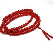 Natural Beads Mala Original Certified Stone Coral/Moonga Mala By Jaipur Gemstone
