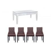 Harveys Lourdes Dining Table & 6 Kiera Chairs 6 peat kiera chairs
