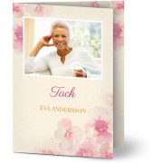 Optimalprint Tackkort efter begravning, glansigt papper, standard-kuvert, 1 st, fotokort (1 foto), fotoram, rosa, A6, vikt, Optimalprint