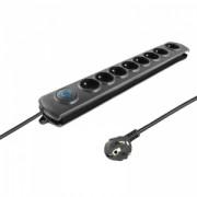 Surge protector QOLTEC - 8 power socket - 3.0m