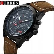 Curren Meter Round Analog Watch For Men Boys By HK 6 MONTH WARRANTY