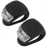M10027 Black Waterproof Super Frog White LED Bicycle bike Head Light Headlamp Headlight-Different Modes 2PCS