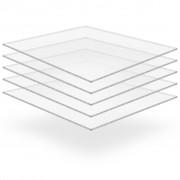 vidaXL Прозрачни акрилни плоскости, 5 бр, 40x60 см, 4 мм
