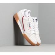 adidas Continental 80 Crystal White/ Collegiate Navy/ Scarlet