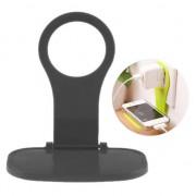 GadgetBay Muur Oplader Houder Standaard iPhone Smartphone - Zwart