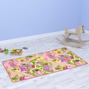 vidaXL Play Mat Loop Pile 190x200 cm Sweet Town Pattern