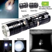 7W Zoomable Battery Powered Portable Waterproof Ultra Bright LED Flashlight Torch Searchlight Outdoor/Emergency Light