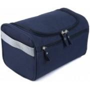Styleys Hanging Fabric Travel Toiletry Bag Organizer and Dopp Kit storage Bag Travel Toiletry Kit(Blue)