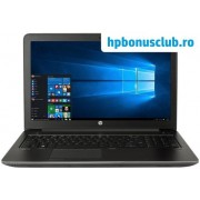 "Laptop HP ZBook 15 G3 (Procesor Intel® Core™ i7-6700HQ (6M Cache, up to 3.50 GHz), Skylake, 15.6""FHD, 8GB, 256GB SSD, nVidia Quadro M1000M @2GB, Wireless AC, Tastatura iluminata, FPR, Win10 Pro 64)"