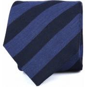 Krawatte Seide Dunkelblau Streifen K82-16 - Blau