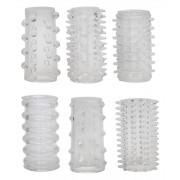You2Toys Red Roses - manžety na penis (6 dielna súprava)