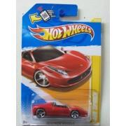 Hot Wheels 2012-025 Ferrari 458 SPIDER New Models RED 1:64 Scale SCAN & TRACK Card