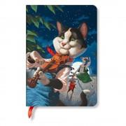 Paperblanks Linkovaný zápisník s tvrdou vazbou Paperblanks Cat and the Fiddle, 12 x 17 cm
