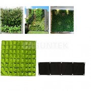ELECTROPRIME® 4-Pocket +72 Pockets Hanging Wall Flower Planter Grow Outdoor Herb Pot Decor