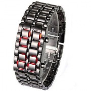 NG black led Metal watches For Unisex