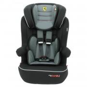 Siège Auto Isofix Ferrari Grand Confort De 9 À 36kg - Fabrication 100% Française - 3 Étoiles Test Tcs - Protections Latérales - Cale Tête Rembourré Et Ajustable - Mycarsit - Gris