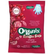 Organix - Rondele Finger din Orez expandat, Cirese 50g